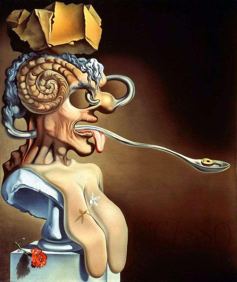 Portret Picassa   Salvador Dali