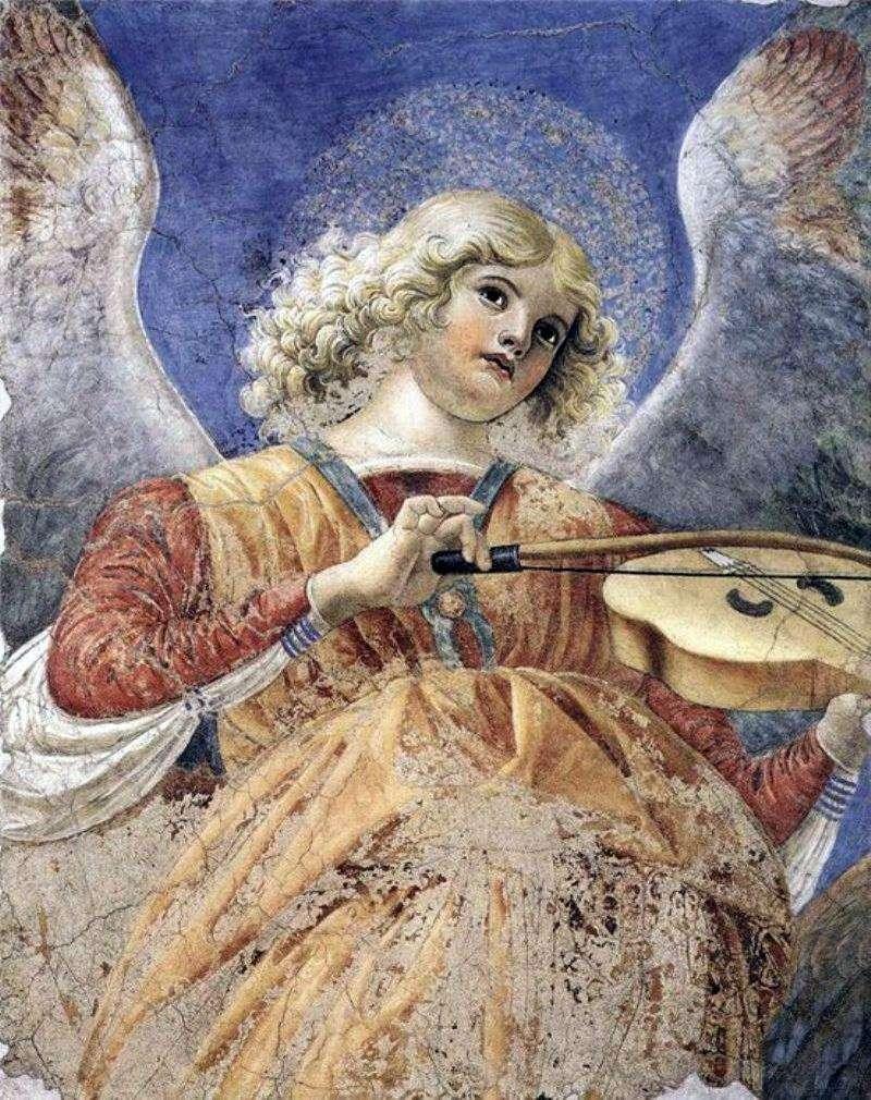Anioł grający na altówce. Fragment fresku z kościoła Santi Apostoli   Forli Melozzo