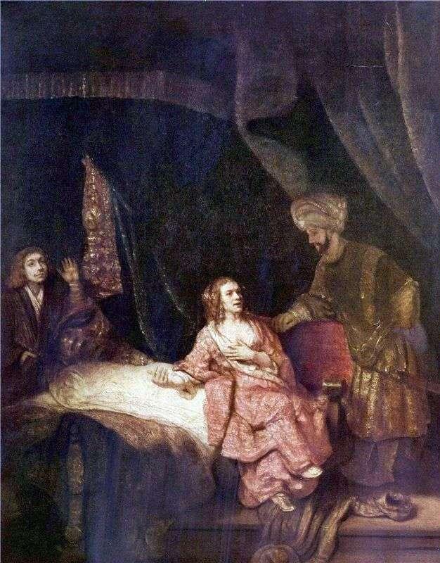 Żona Potifara oskarża Josepha   Rembrandta Harmensa Van Ren