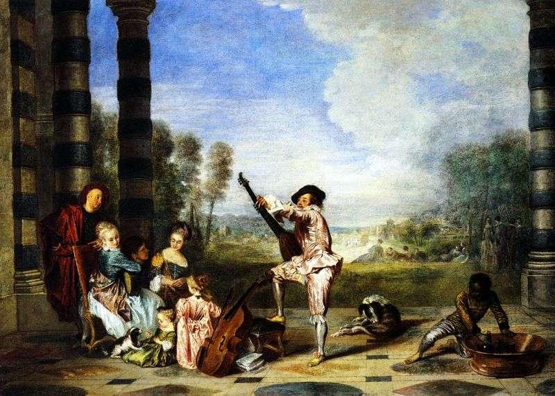 Radość życia   Jean Antoine Watteau