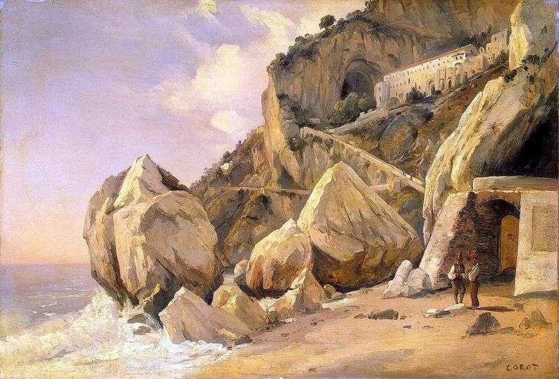 Skały w Amalfi   Camille Corot