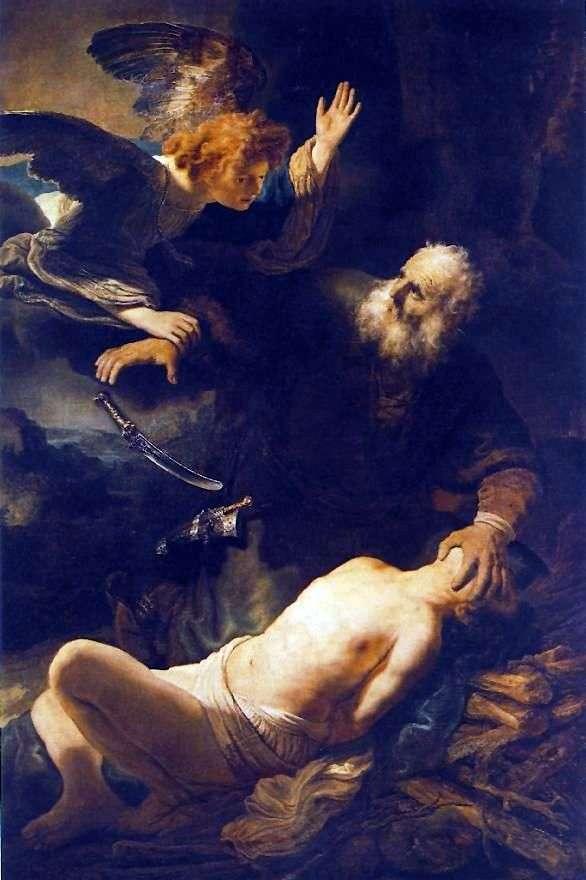 Ofiara Abrahama   Rembrandt Harmens Van Rhine