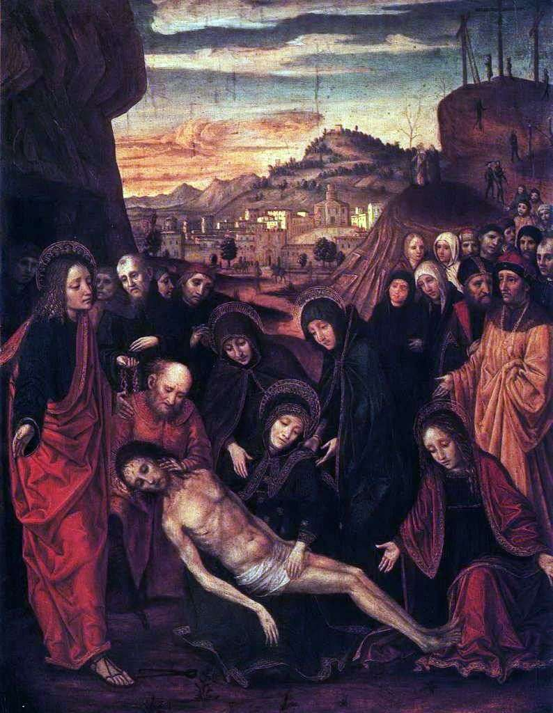 Lamentacja Chrystusa   Bergognone (Ambrogio da Fossano)