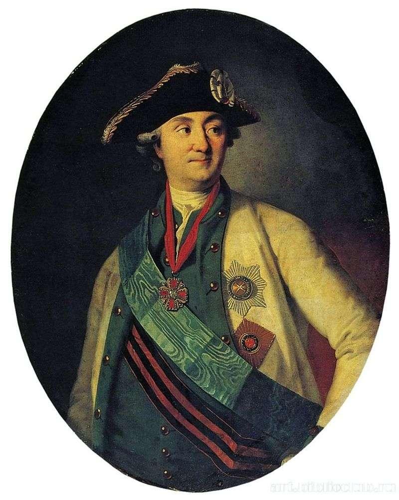 Portret hrabiego A. G. Orłowa Chesmensky   Karl Ludwig Christenak