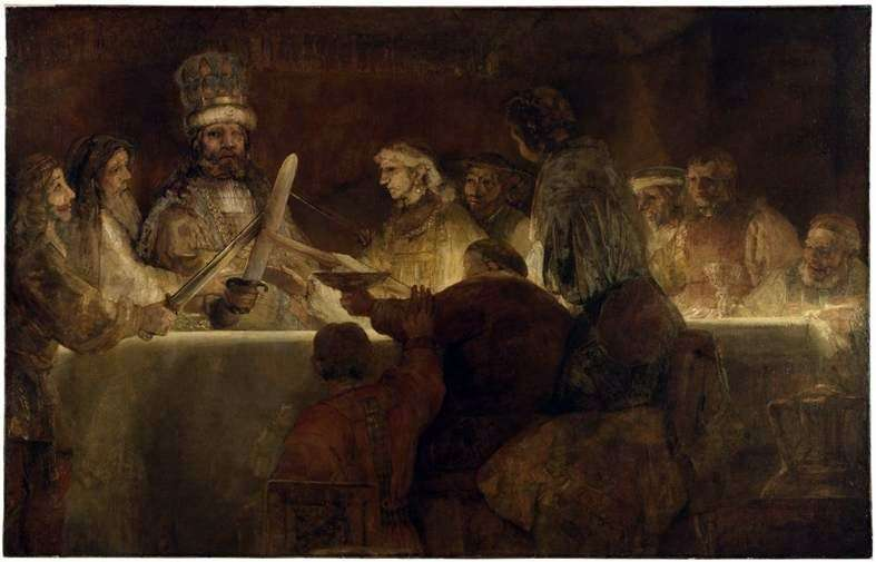 Batavian Conspiracy   Rembrandt Harmens Van Rhine