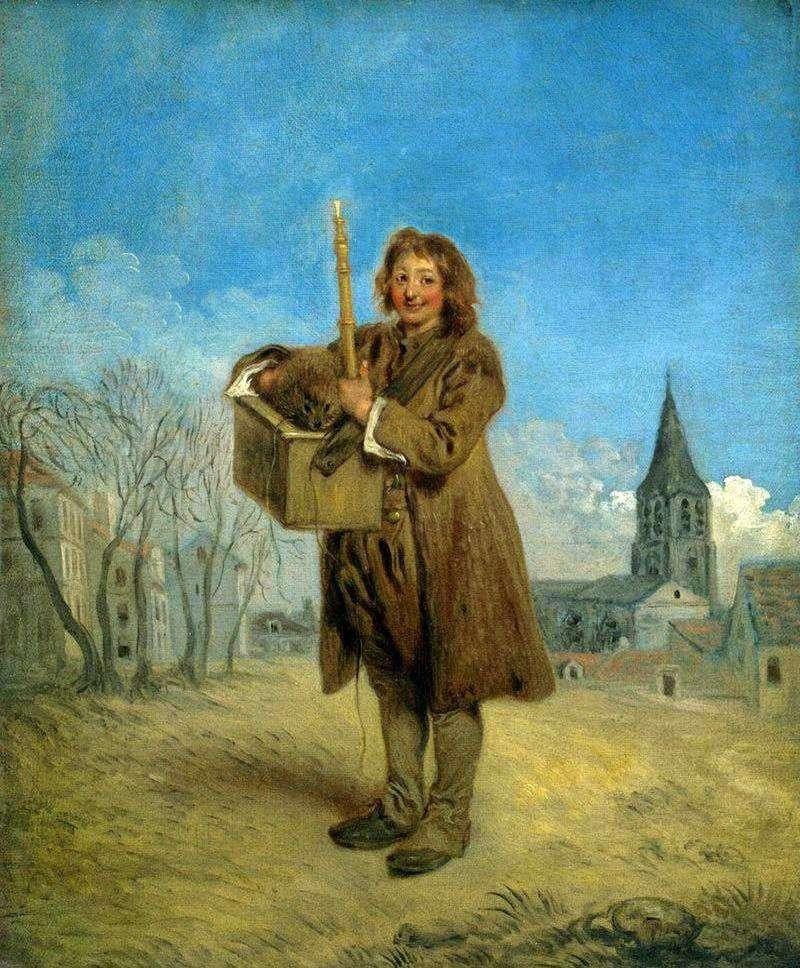 Savoyard ze świstakiem   Jean Antoine Watteau