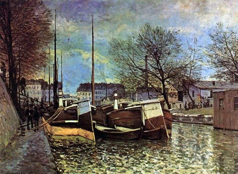Barki na kanale Saint Martin   Alfred Sisley