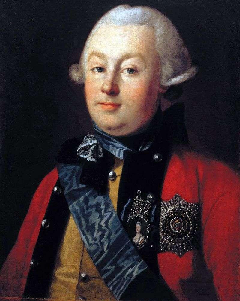Portret księcia G. Orłowa   Karl Ludwig Hristinek
