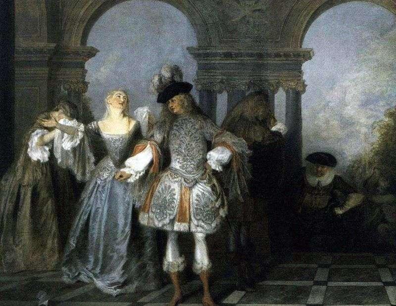 Francuska scena komediowa   Jean Antoine Watteau