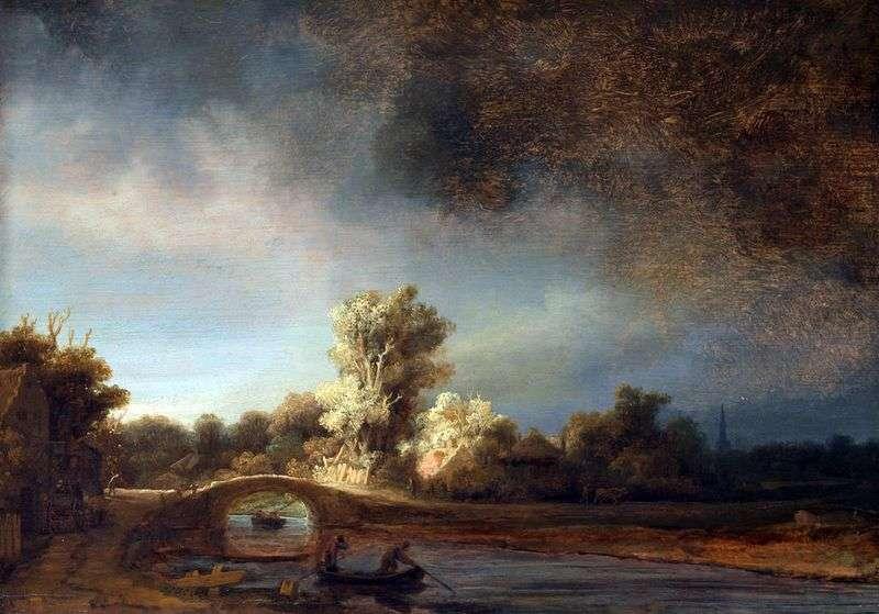 Kamienny most   Rembrandt Harmens Van Rhine