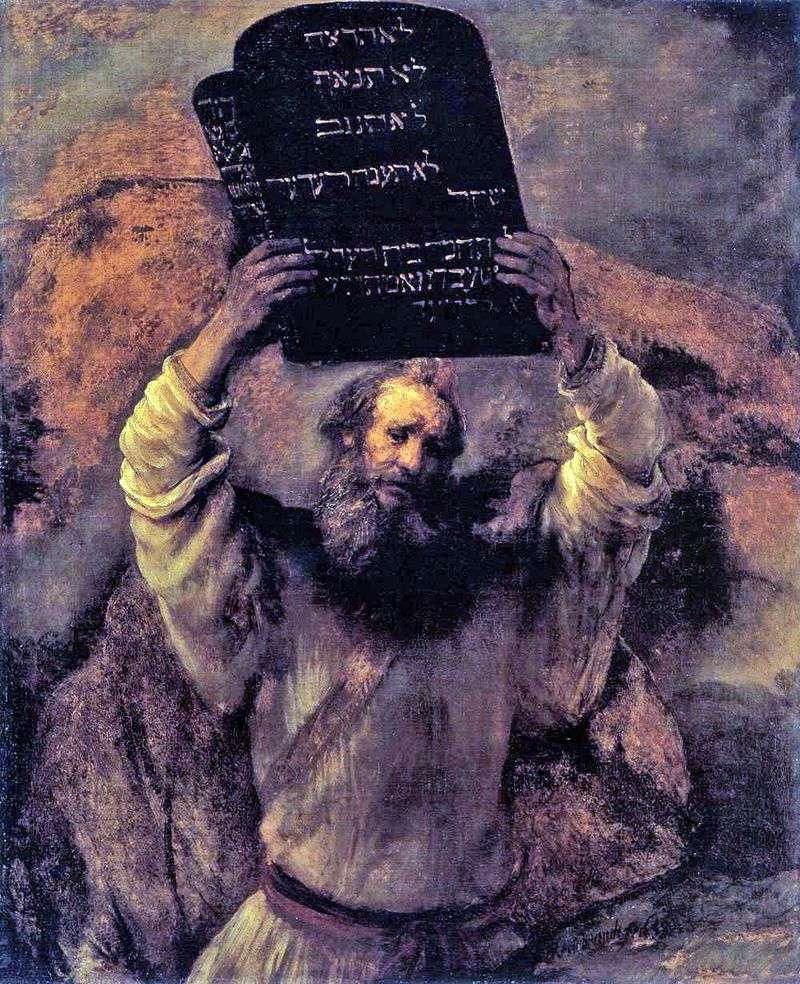 Mojżesz z Tablicami Prawa   Rembrandt Harmens Van Rhine