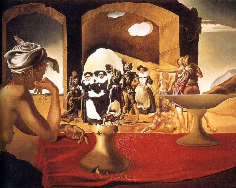 Rynek niewolników ze znikającym popiersiem Waltera   Salvador Dali