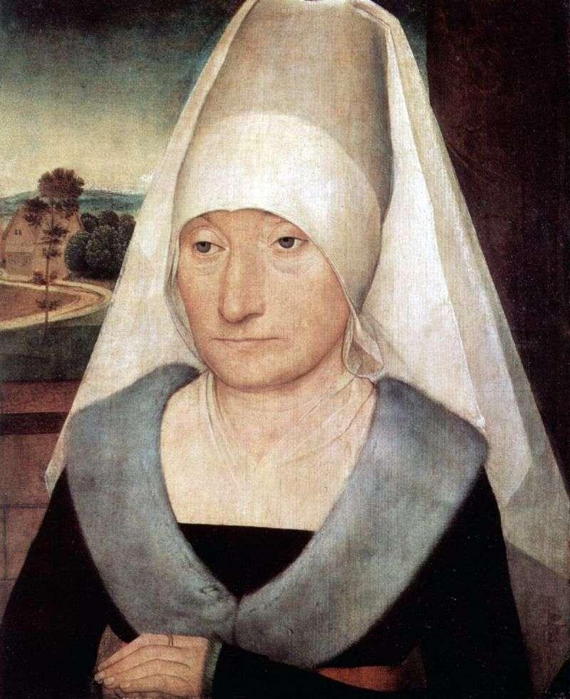 Portret starej kobiety   Hans Memling