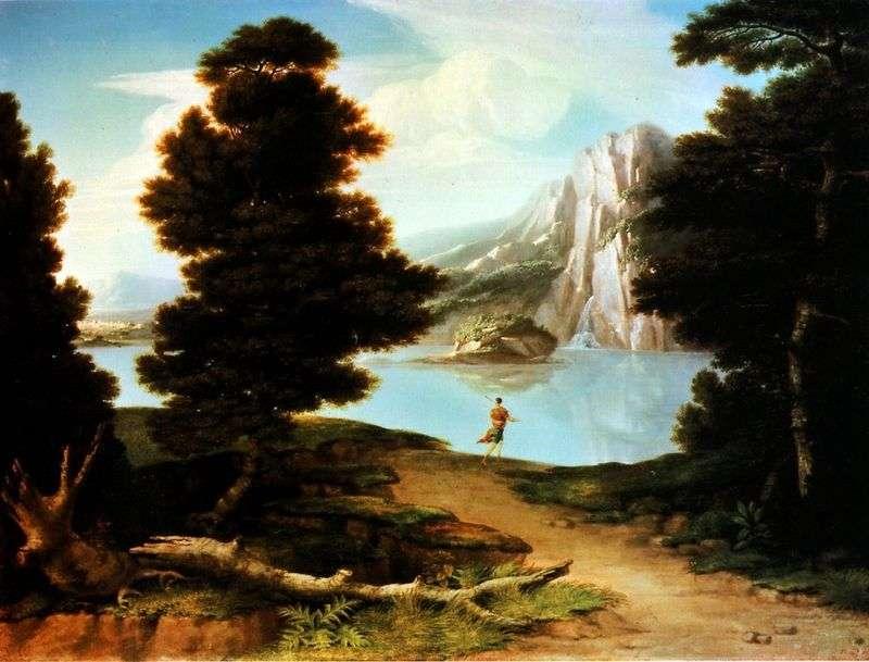 Krajobraz z jeziorem   Alston Washington