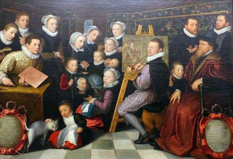 Autoportret z rodziną   Otto van Veen