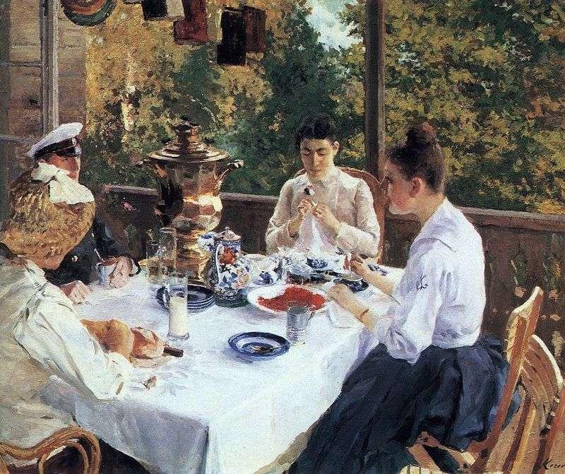 Przy herbacianym stole   Konstantin Korovin