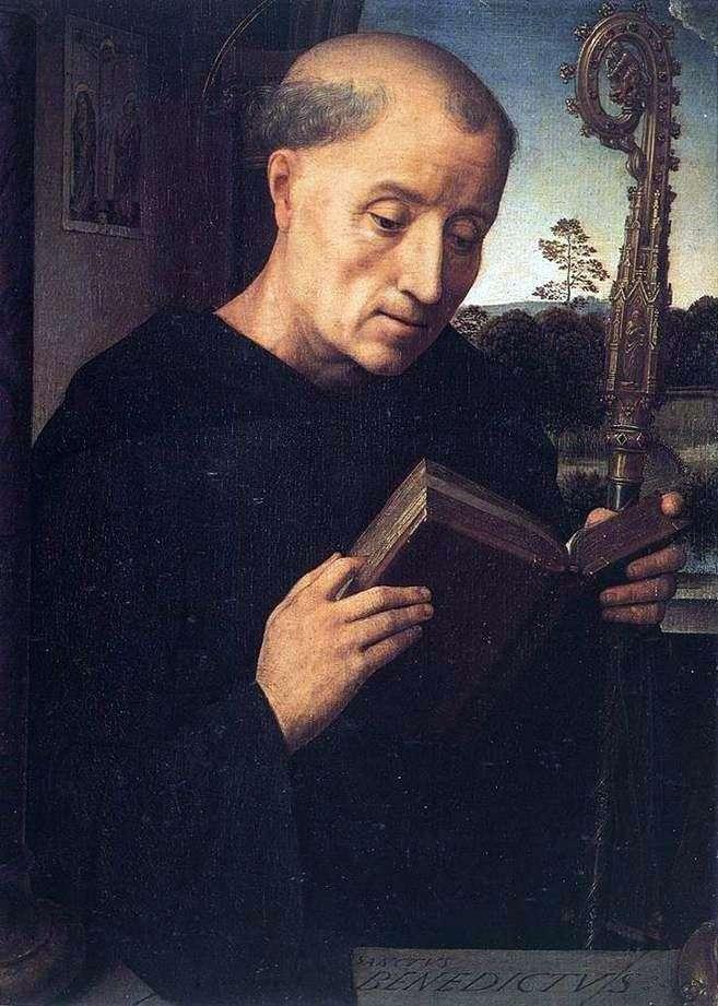 Święty Benedykt   Hans Memling