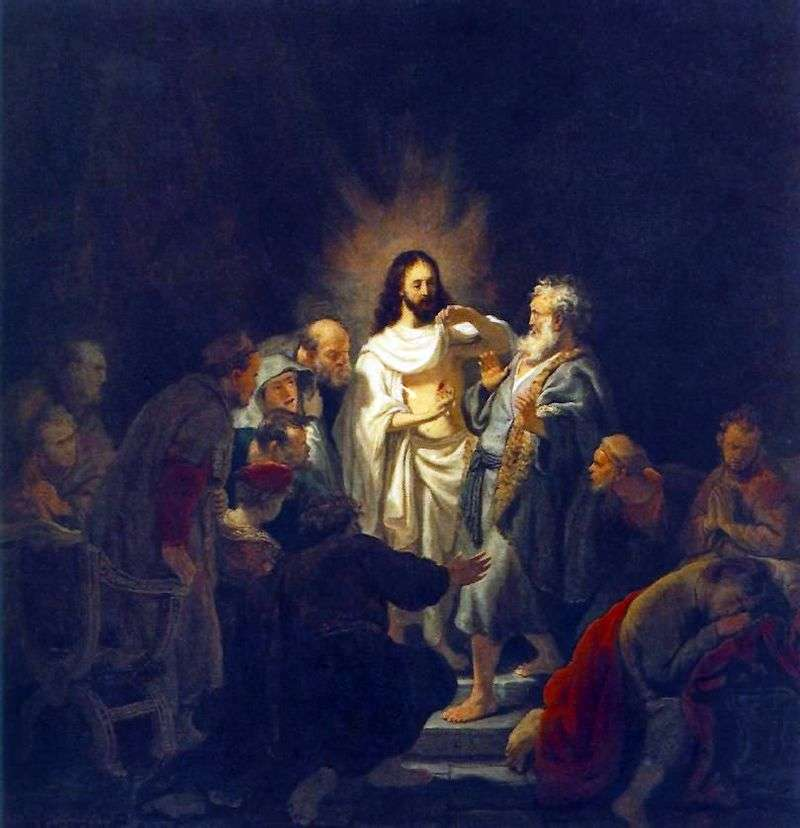 Niewiara apostoła Tomasza   Rembrandt Harmens Van Rhine