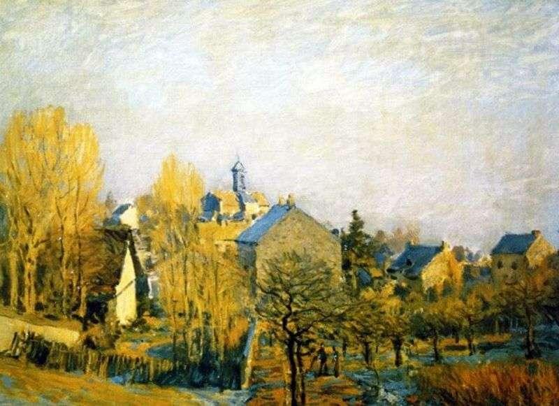 Frost w Louviennenne   Alfred Sisley