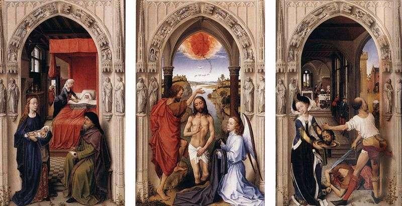 Ołtarz św. Jana Chrzciciela   Rogier van der Weyden