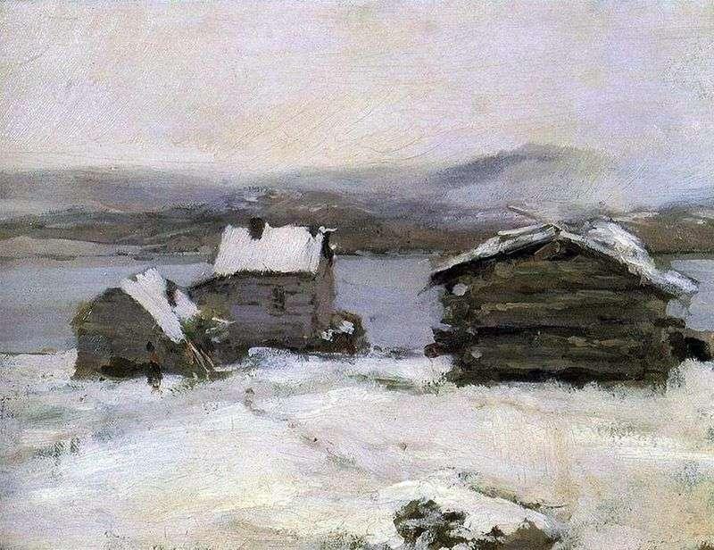 Zima w Laponii   Konstantin Korovin