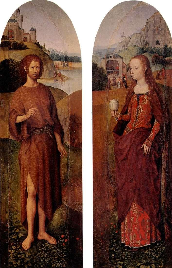 Św. Jana Chrzciciela i św. Marii Magdaleny. Tryptyk boczny   Hans Memling
