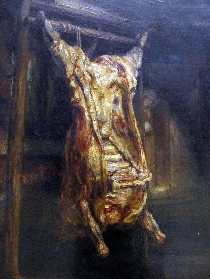 Skinned Bull Carcass   Rembrandt Harmens Van Rhine