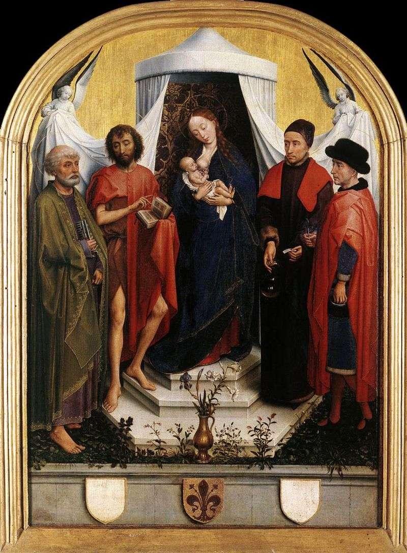 Madonna z Dzieciątkiem i Czterech Świętych   Rogier van der Weyden