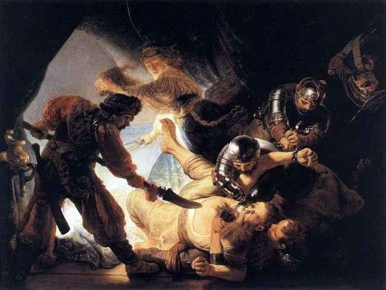 The Blinding of Samson   Rembrandt Harmens Van Ren