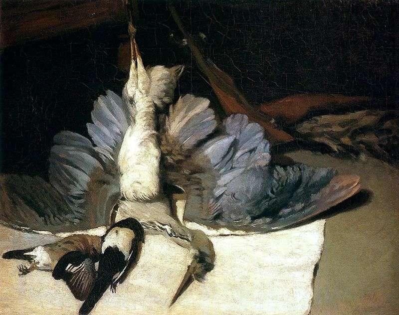 Martwa natura z czaplą   Alfred Sisley