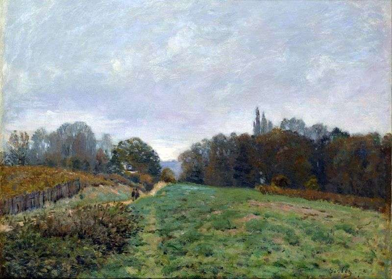 Krajobraz w Louviennenne   Alfred Sisley