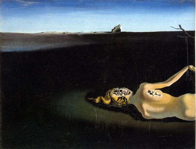 Śpiąca kobieta w krajobrazie   Salvador Dali