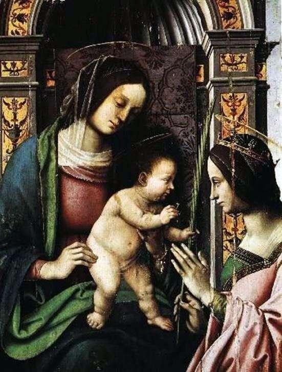 Zaangażowanie św. Katarzyny Aleksandryjskiej   Giovanniego Battisty Bertucci