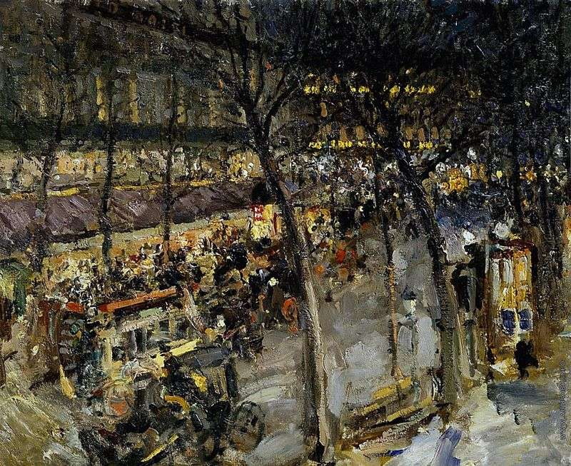 Paryż Cafe de la Paix   Konstantin Korovin