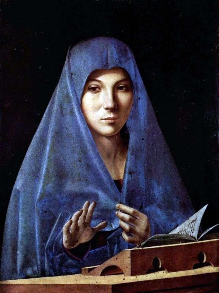 Zwiastowanie   Antonello da Messina