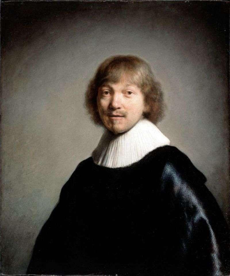 Portret Jacques de Heyne III   Rembrandt Harmens Van Rhine