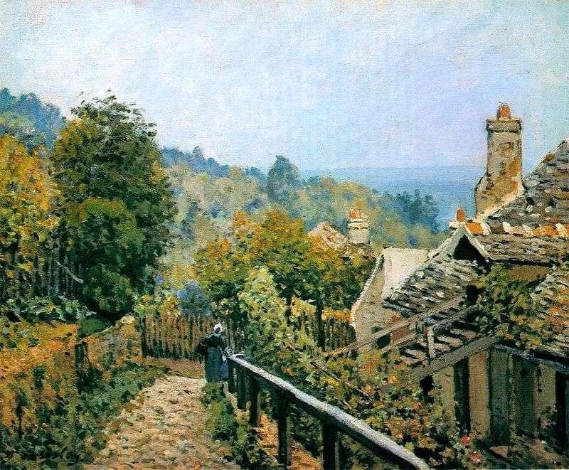 Ścieżka ogrodowa w Louviesen   Alfred Sisley