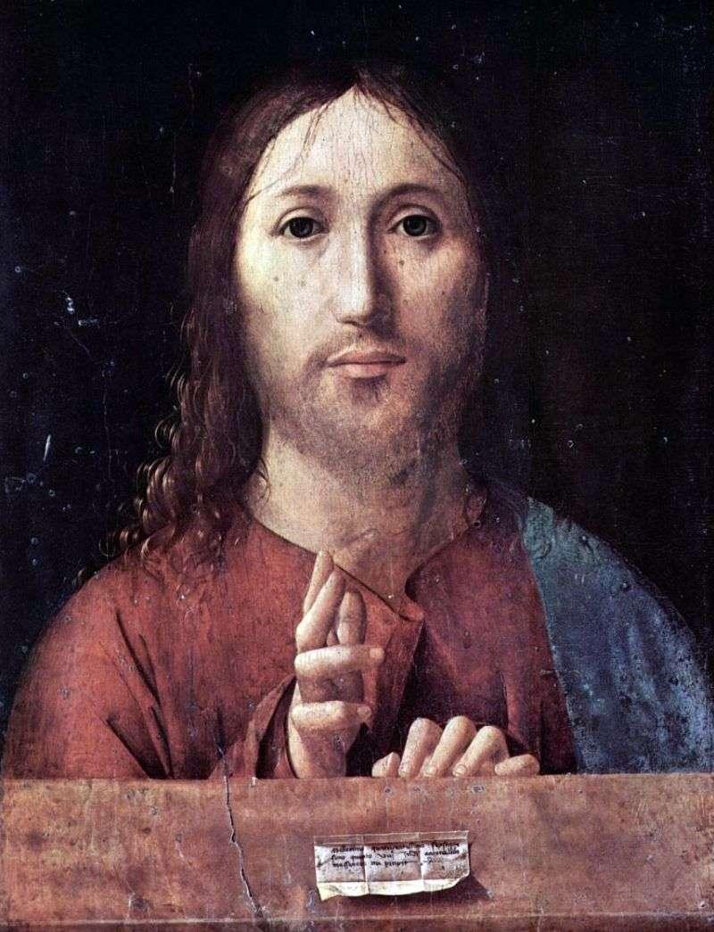 Chrystus Błogosławieństwo   Antonello da Messina