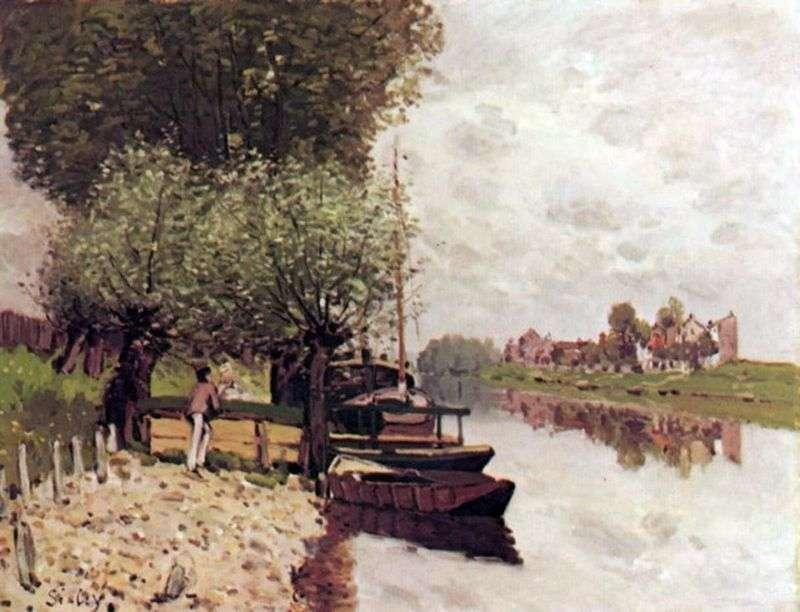 Sekwana w pobliżu Bougivalm   Alfred Sisley