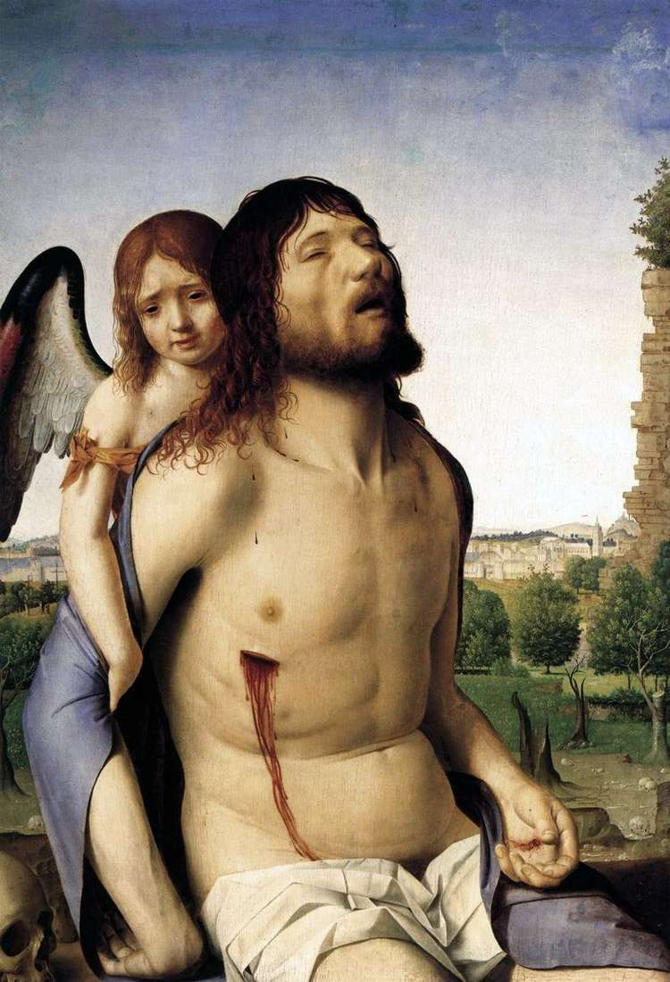 Dead Christ Supported by an Angel   Antonello da Messina