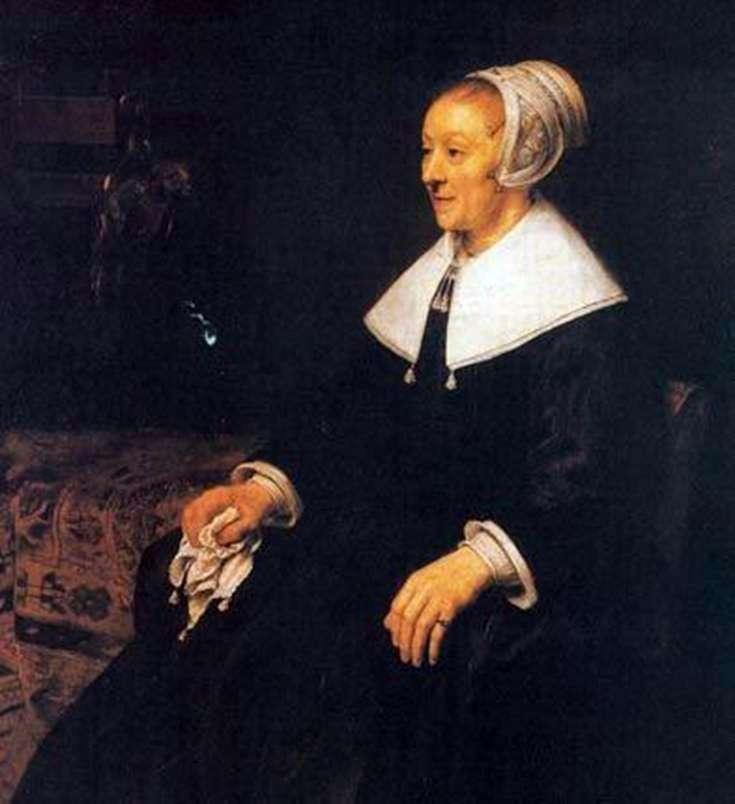 Portret Katriny Hoogsat   Rembrandt Harmens Van Rhine
