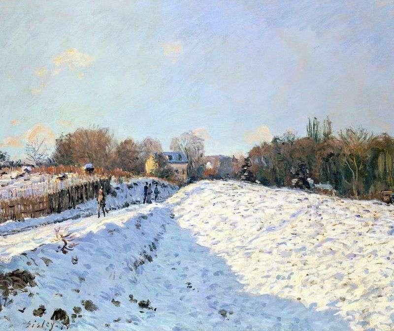 Śnieg w Argenteei   Alfred Sisley