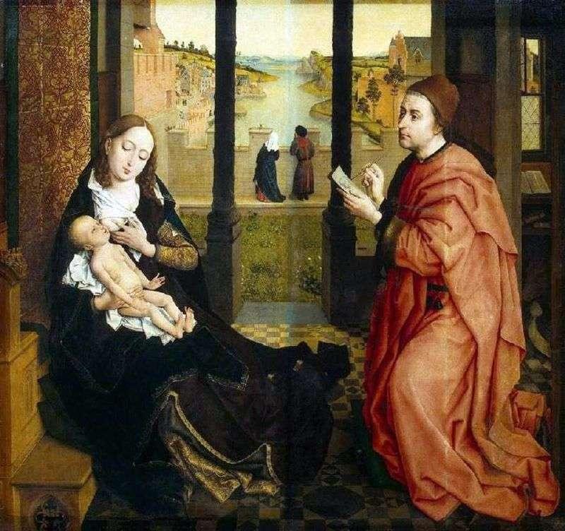 Św. Łukasz, malowanie Madonny   Rogier van der Weyden
