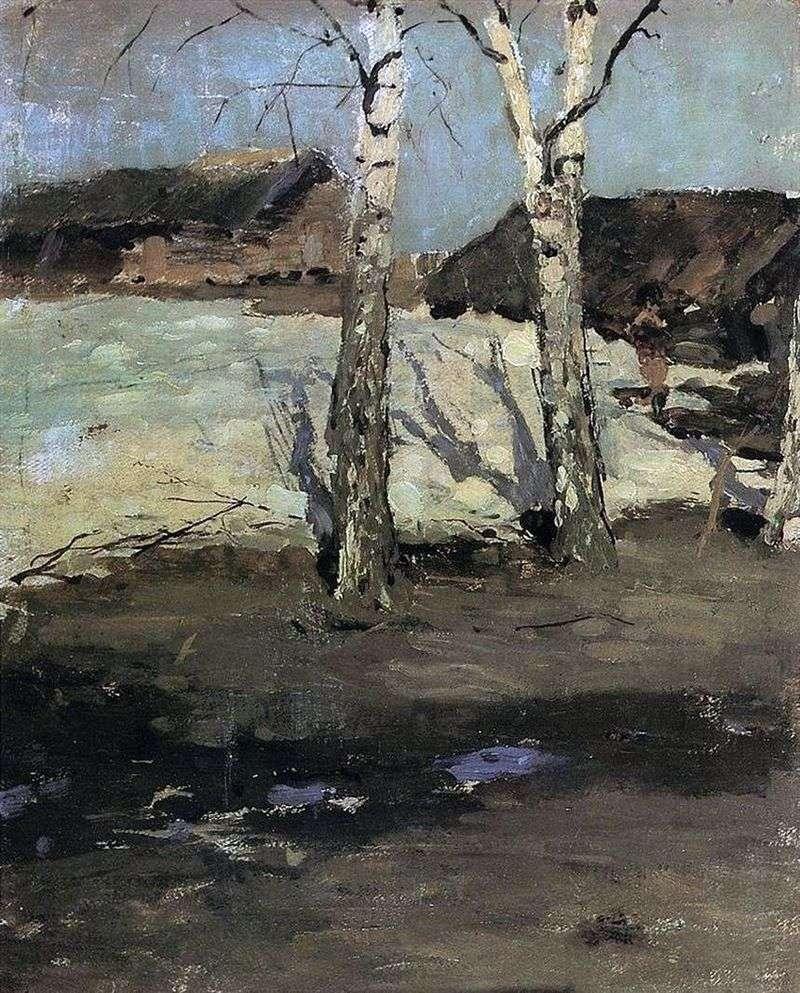 Ostatni śnieg   Konstantin Korovin