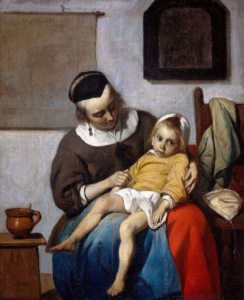 Chore dziecko   Gabriel Metsu