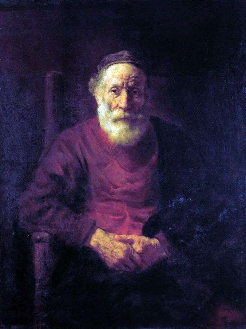 Portret starca w czerwieni   Rembrandt Harmens Van Rhine