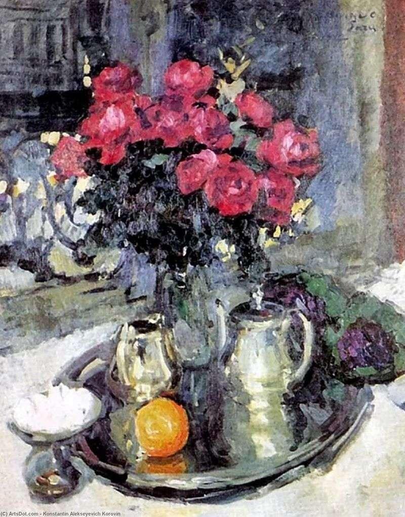 Róże i fiołki   Konstantin Korovin