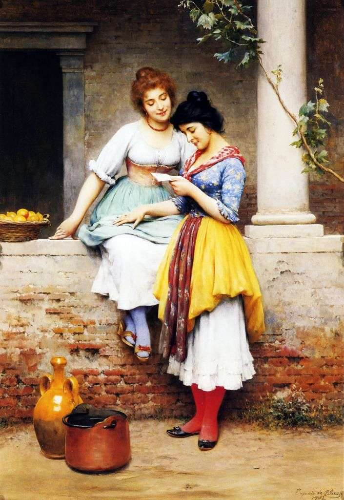A Letter Out Loud   Eugene de Blaas