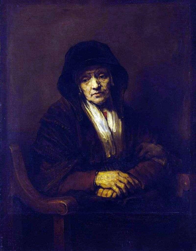 Portret starej kobiety   Rembrandt Harmens Van Rhine