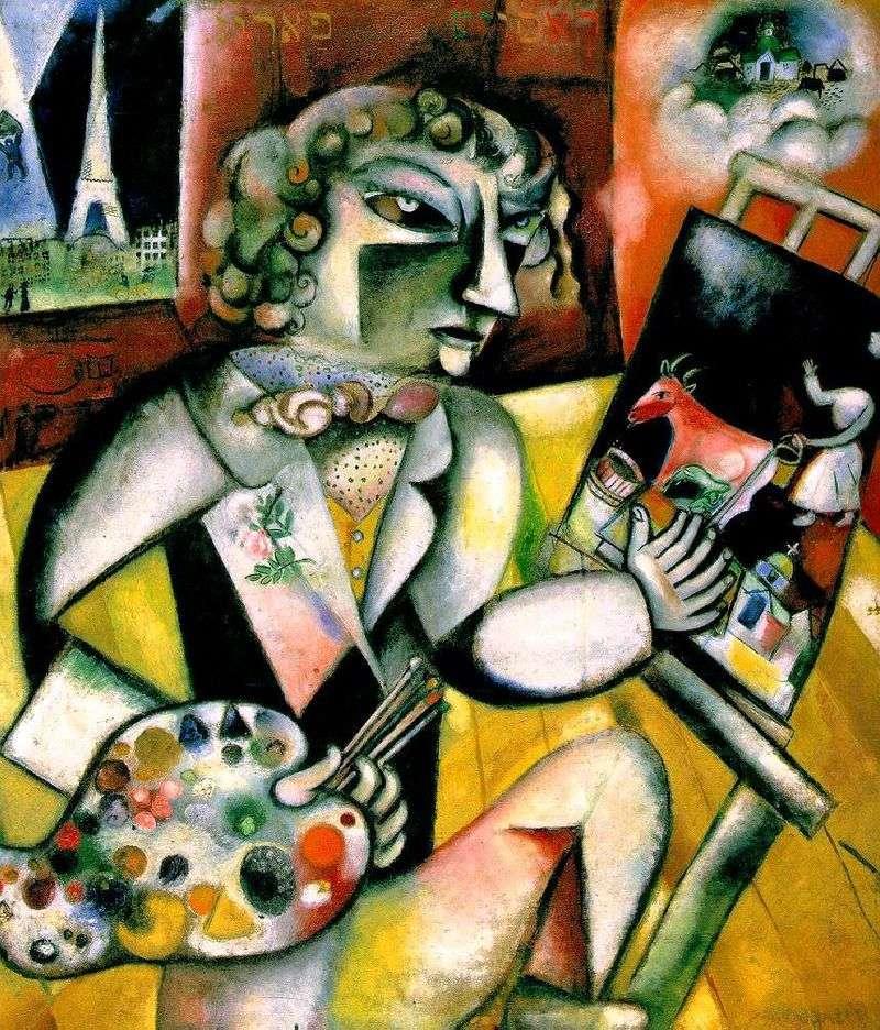 Autoportret z siedmioma palcami   Marc Chagall
